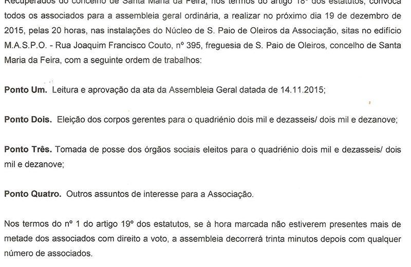 convocatoria AG 19 12 2015